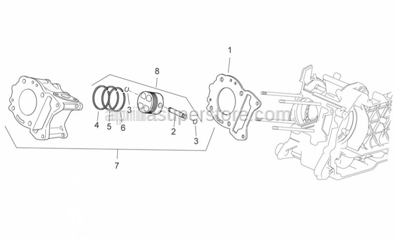 Aprilia - Cylinder base gasket 0,8