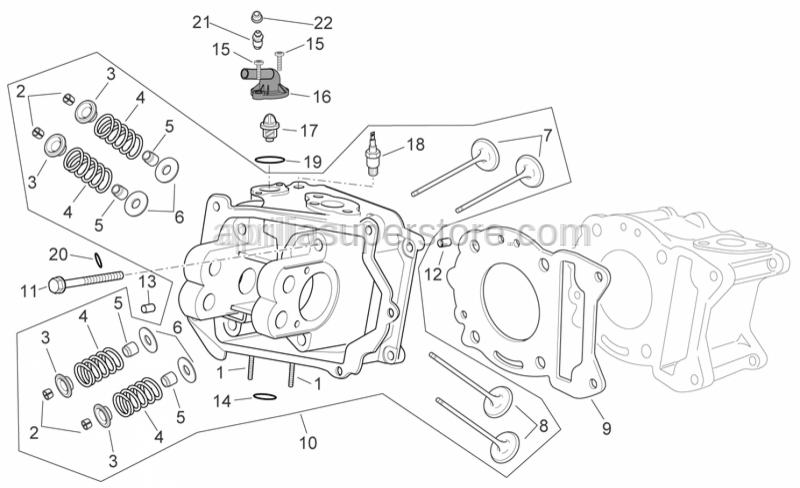 Aprilia - Intake valve