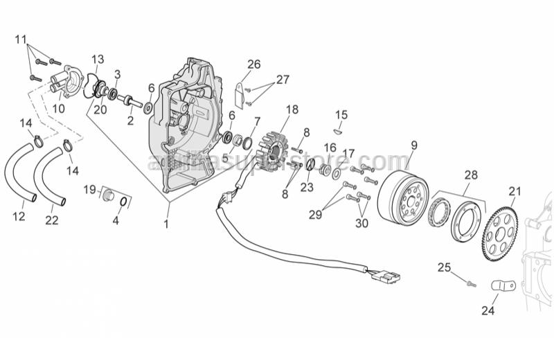 Aprilia - Pump impeller drive key