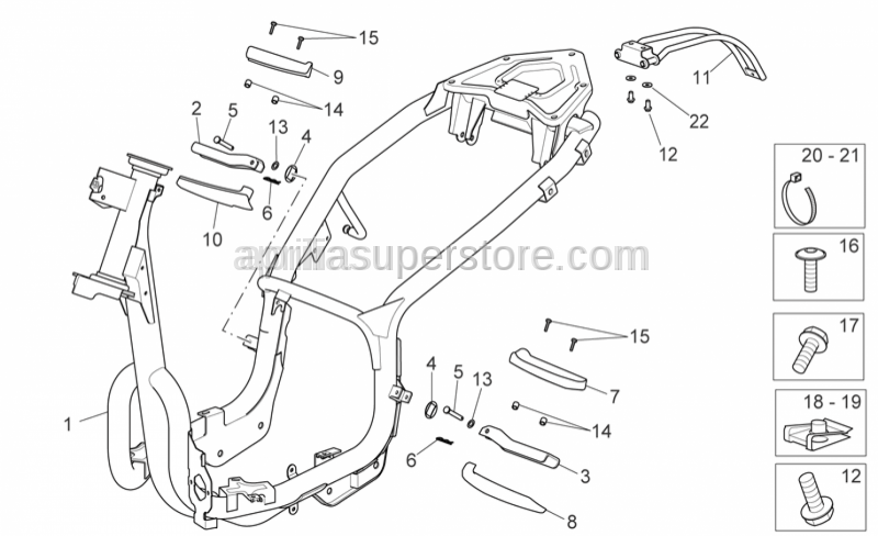 Aprilia - NUMBER PLATE HOLDER BRACKET