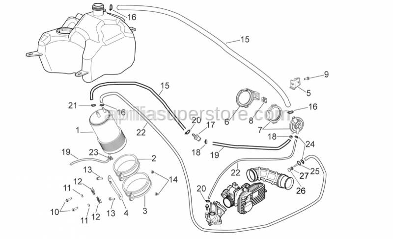 Aprilia - Hose clamp D11,3