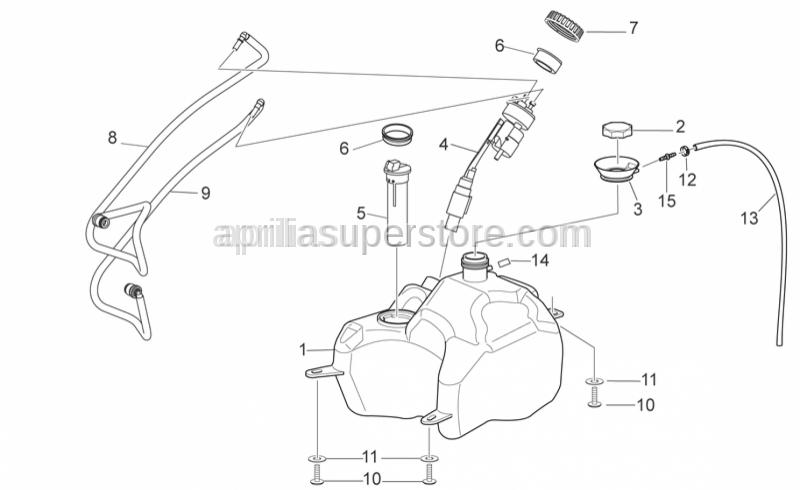 Aprilia - Delivery fuel pipe