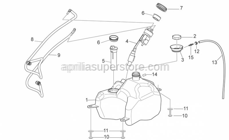 Aprilia - Breather pipe 4x8