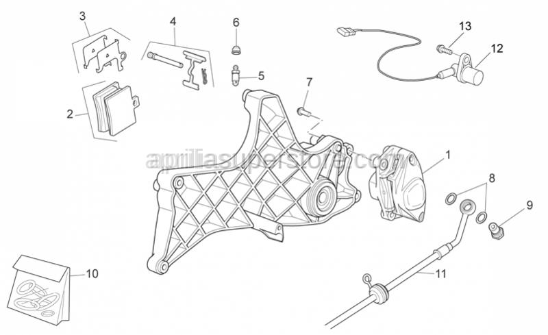 Aprilia - Brake caliper rev. kit