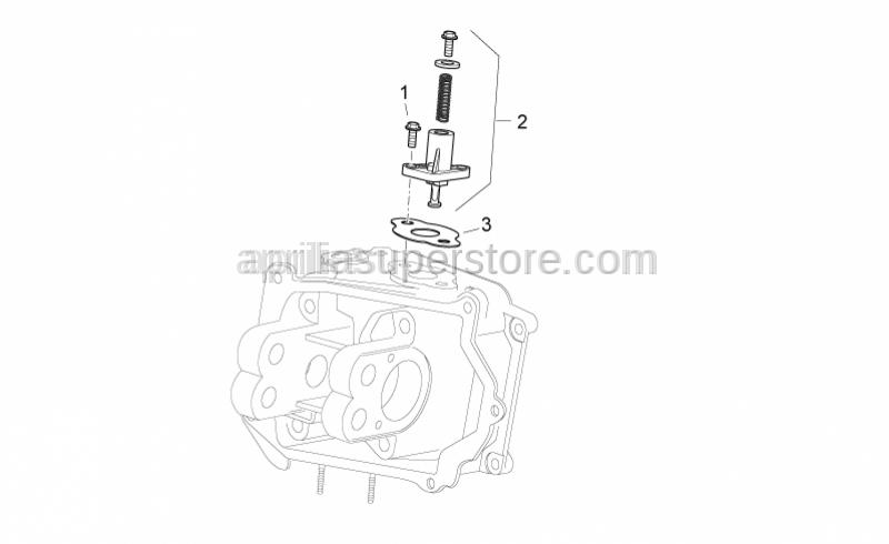 Aprilia - Complete chain tensioner