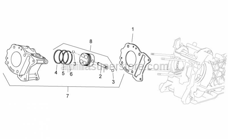 Aprilia - Cylinder base gasket 0,8 mm