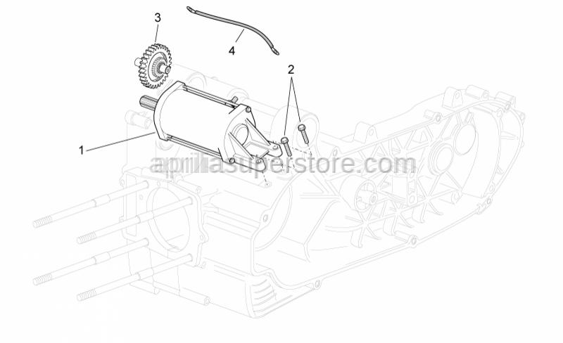 Aprilia - STARTING MOTOR WIRE