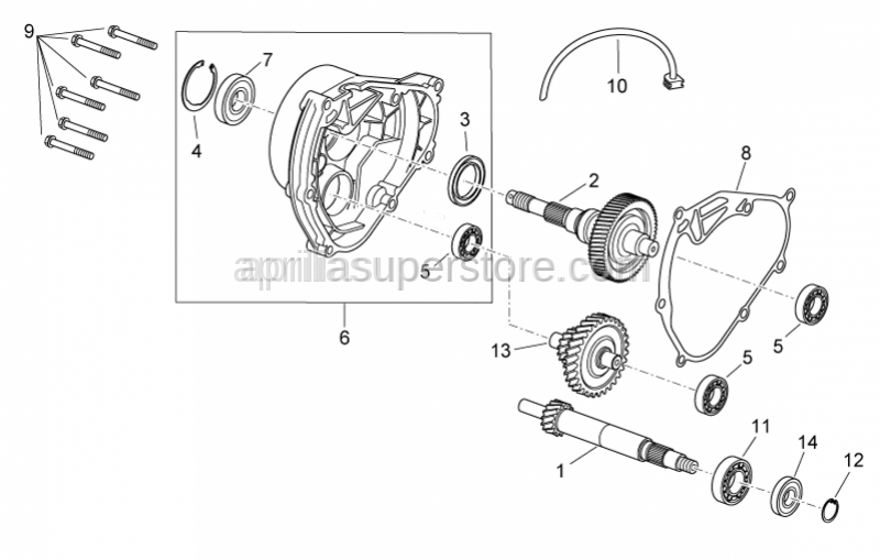 Aprilia - DRIVEN PULLEY SHAFT