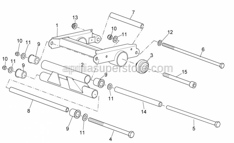 Aprilia - Frame pivot pin