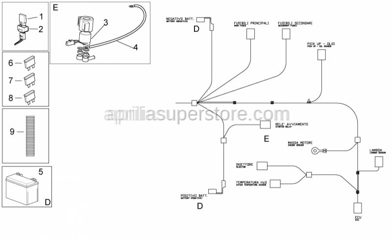 Aprilia - STARTER RELAY(VESPA)