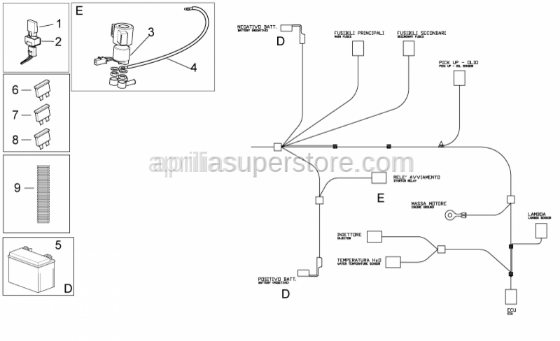 Aprilia - BATTERY YUASA YTX12-BS(12V-10AH)