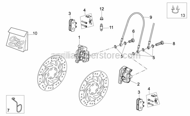 Aprilia - Brake caliper rev. kit