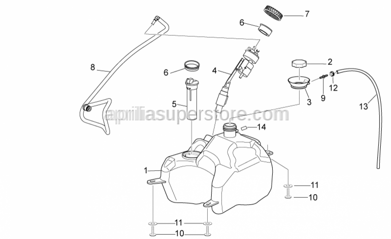 Aprilia - Fuel collector rubber