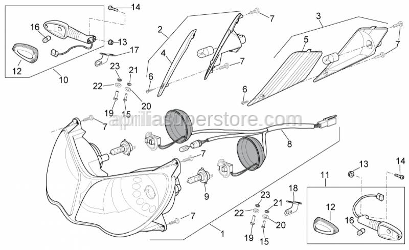Aprilia - RH clamp