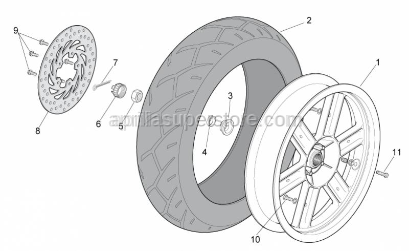 Aprilia - Rear tyre 130-80 15