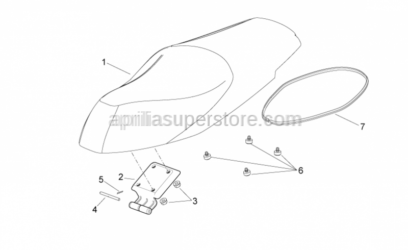 Aprilia - Front saddle support rubber