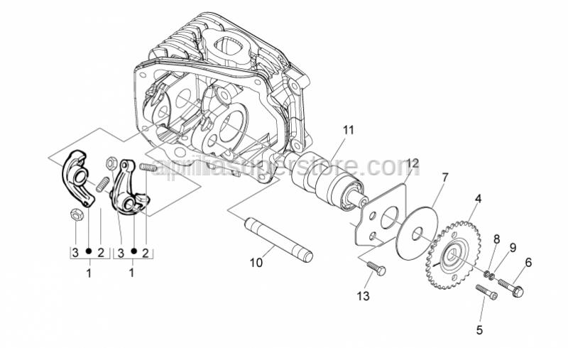 Aprilia - Bronze Camshaft for motor