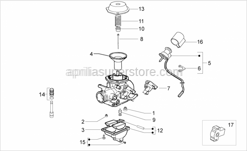 Aprilia - COVER PISTON (CVK26 CARBURETOR)