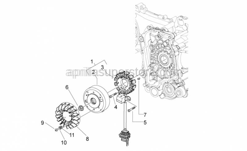 Aprilia - Flat washer 5,3x14x1