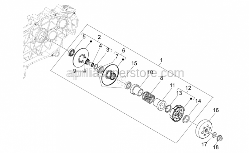 Aprilia - Bearing 17x30x7