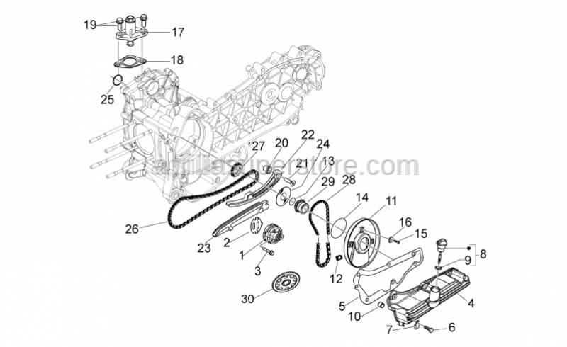 Aprilia - Oil pump gear