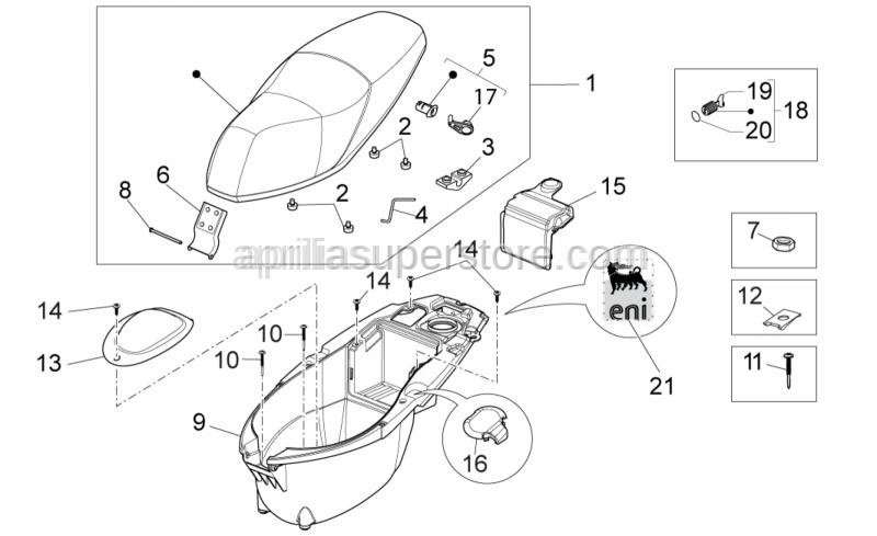 Aprilia - Helmet compartment