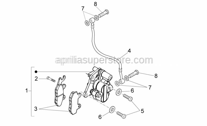 Aprilia - BRAKE HYDRAULIC CALIPER