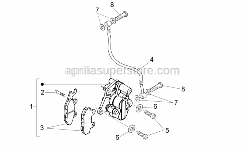 Aprilia - ELASTIC CORRUGATED WASHER