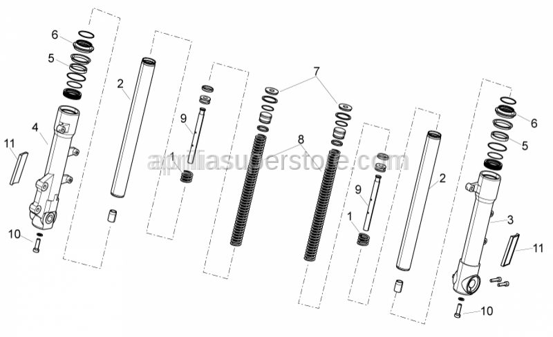 Aprilia - COMPLETE REFLECTOR