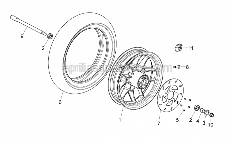Aprilia - Bearing (wheel)