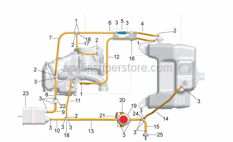 Aprilia - Fuel tube 3,25x8x255