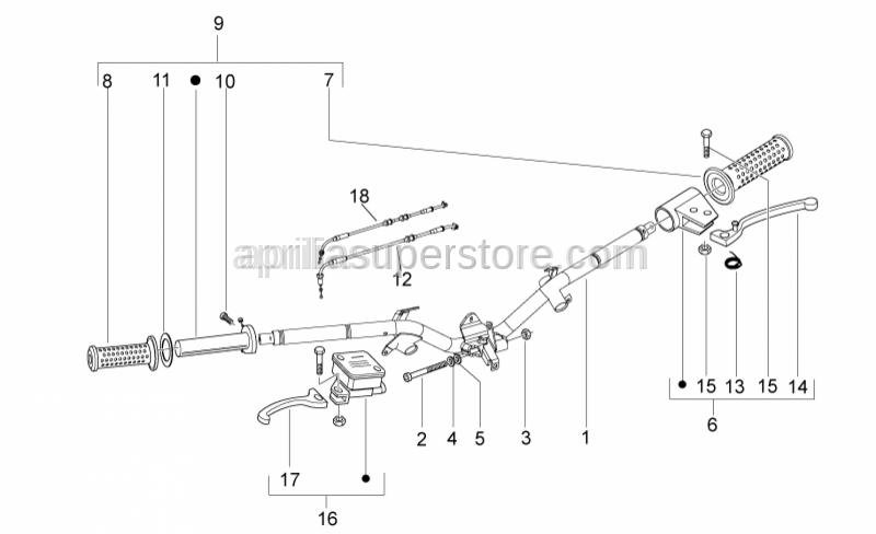 Aprilia - close gas control transmission