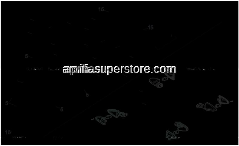 Aprilia - Number plate lamp