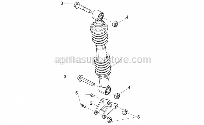 Aprilia - Hex socket screw M8x50