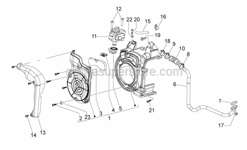 Aprilia - Hex socket screw M5x25