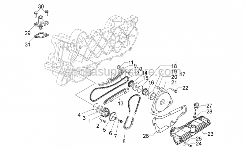 Aprilia - GASKET BETWEEN CRANKCASE AND OIL PUMP