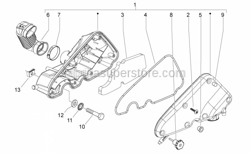 Aprilia - Special cap screw M6x50