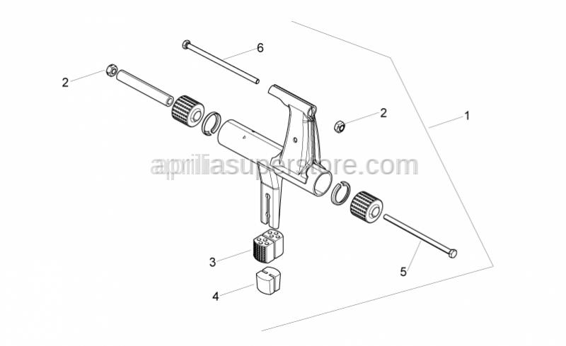 Aprilia - Hex screw M10x245