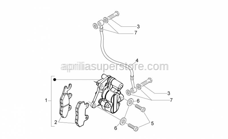 Aprilia - Brake caliper (Heng Tong)