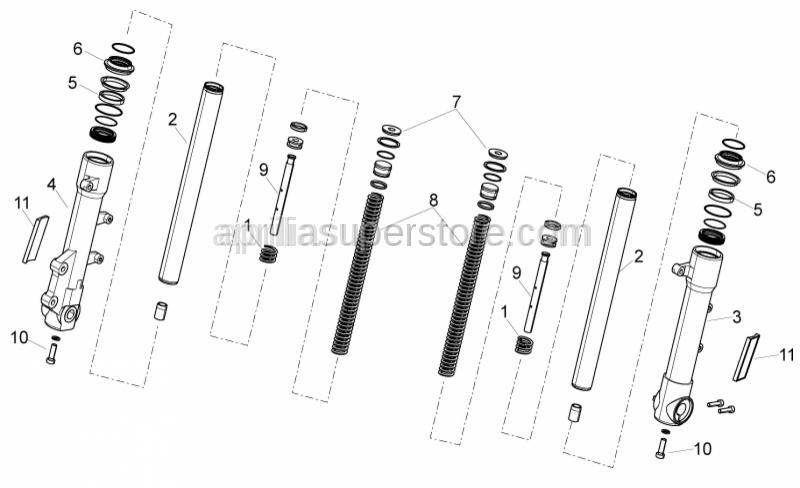 Aprilia - Fork piston