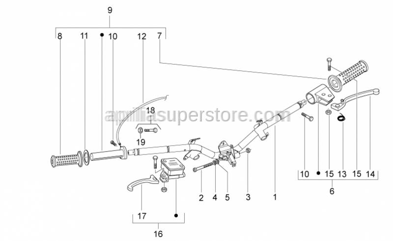 Aprilia - Hex socket screw M10x65