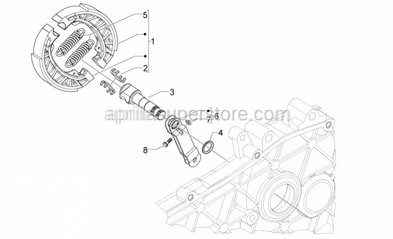 Aprilia - BRAKE LEVER ET 50, MC3 M.02
