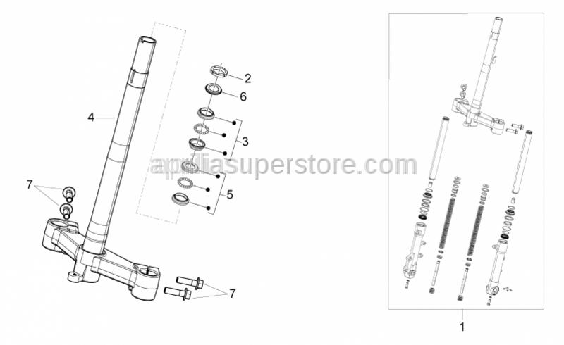 Aprilia - Front fork assembly