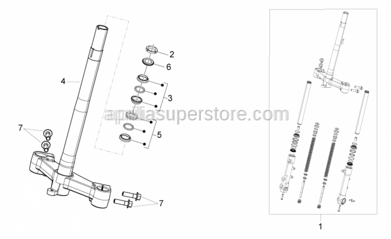 Aprilia - Steering column tube