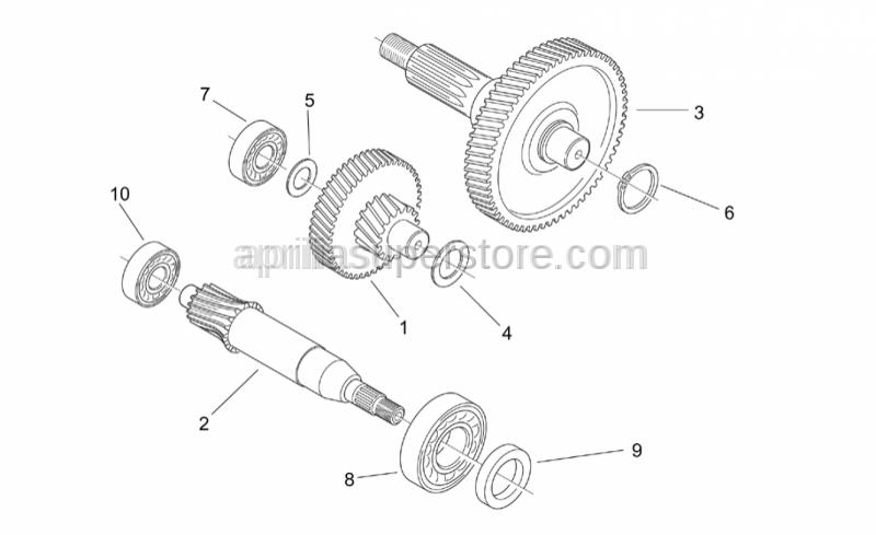 Aprilia - Idle gear assy Z=17/51