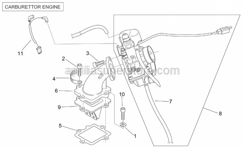 Aprilia - Fuel intake valve gasket