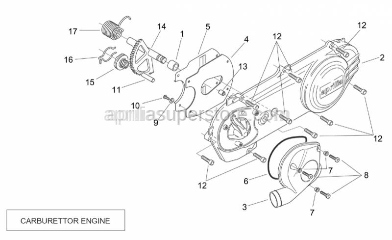 Aprilia - Hex socket screw m5x20