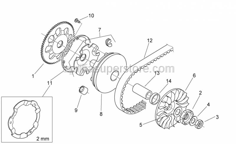 Aprilia - Pin roller