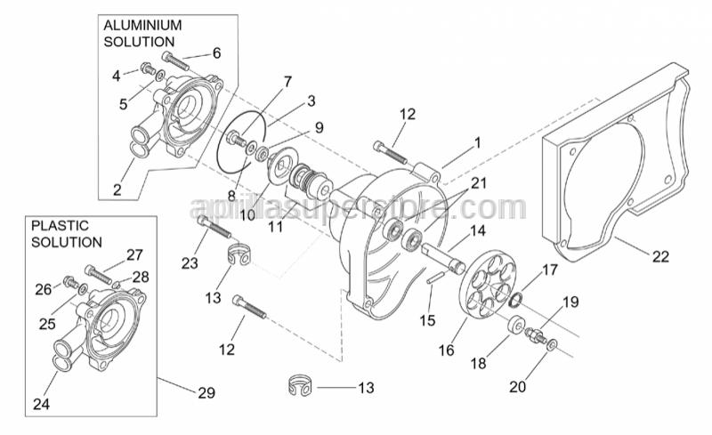 Aprilia - Self-tap screw 5,5x13