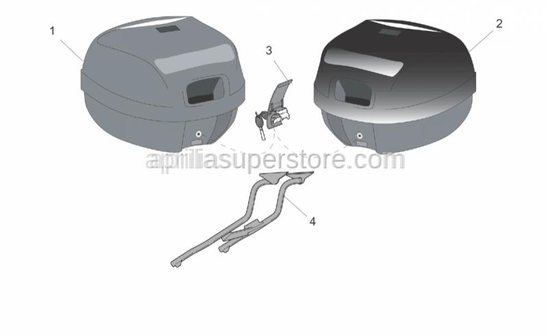 Aprilia - Top box supp.plate assy New-C